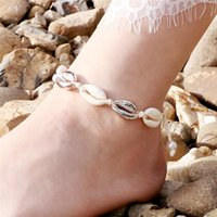 Anklets Women Seashell Anklet Gold Silver Color Shell Bracelet For Girls Summer Beach Holiday Foot Ankle Jewelry Bohemian Leg Chain Gift