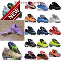 2022 Scarpe da calcio Arrivo Mens Tacchetti Mercurial Superfly 7 Elite NJR CR7 FG Stivali da calcio ad alta caviglia NEYMAR RONALDO TACOS DE FU