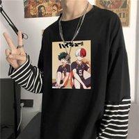 Мой герой академии Тодороки так футболки для мужчин Боку нет топы женщин Harajuku корейская мода фальшивая две части футболки мужские