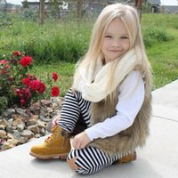 Waistcoat Girls Faux Fur Vest Jackets Toddler Kids Baby Girl Winter Warm Thick Coat Outwear Children Clothes Outerwear