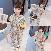 Coton Soft Enfants Filles Floral Rompes Floraux Vêtements Vêtements sans manches Toddler Combinaisons Jumpsuits Été Nouveau-né BodySuits