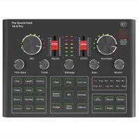 Microphones BM800 Pro Microphone Mixer Audio Dj Condenser Sound Card Live Broadcast MIC Stand USB Bluetooth Recording Professional Game V8V9