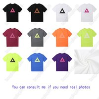 Palacetop Clásico Triángulo Logotipo T Shirt 11 Colores Moda Lujo Impreso Tee Europa y Estilo Americano Tees de alta calidad Casual Street Shirts