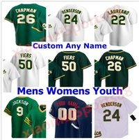 Oakland Men Mujeres Niños 2021 Juego de Béisbol Jerseys Matt Chapman Khris Davis Marcus Semien Taner Roark Ramon Laureano Jesús Jurickson Jersey