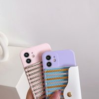Luxury Stripes Soft TPU Cases With Pack Wallet For Samsung A20S A82 5G A22 4G A52 A72 A42 A32 A12 A51 A71 A02S A21S Cash Card Pocket Coin Purse Leather Pouch Back Cover