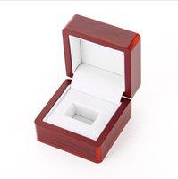 Rosewood jóias campeão anel de madeira caixa de presente
