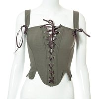 Belts Army Green Lace-up Fish Bone Tunic For Ladies Sexy Fashion Girdle Collocation Skirt Little Fairy Princess Wear Women's Belt