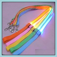 Collars Leashes Supplies Home & Garden120Cm Led Glow Nylon Dog Harness Puppy Training Straps Dogs Lead Rope Leash Car Safety Seat Belt Pet S