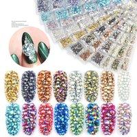 Confezione mista SS4-SS16 Flatback Nail Strass crystal ab colorato 3D vetro pietre di fascino fai da te Gemme di fascino manicure decorazioni artistiche