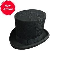 Fibonacci 2021 yeni dantel steampunk Victoria resmi siyah şapka yün keçe vintage sihirbaz fedoras deli ter cumhurbaşkanı bowler