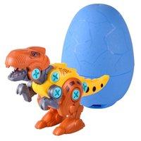 Inteligência multicolor brinquedos DIY Dinossauro crianças meninos e meninas brinquedo quebra-cabeça aprendendo engraçado desmontagem jogos de ovos