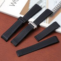Bracelet 22mm 24mm For TAG HEUER GRAND CARRERA AQUARACER Soft Silicone Wristband Men Strap Accessories Rubber Watch