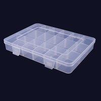 2021 أزياء بلاستيكية تخزين مربع شبكات كبيرة لصغيرة أجزاء الأجهزة حالة حامل الحاويات مع فواصل القابلة للإزالة صناديق إكسسوارات مجوهرات واضحة