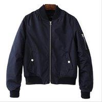 coats Spring and autumn pilots jacket short women's air force thin Baseball long sleeve
