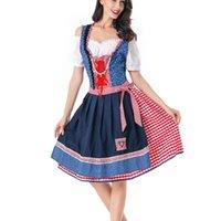 Abiti casual Donne Birra Birra Costume Costume Garment Abitare vestiti Oktoberfest Robe Mini Dress Vestidos Mujer Verano 2021