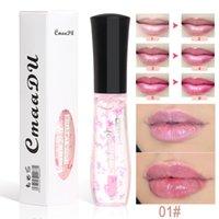 립글로스 CMAADU 4 색 온도 감지 색상 변경 유약 조각 장기 지속 방수 보습 립스틱 화장품 TSLM1