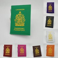 Card Holders Simple Canada Passport Holder Protector Wallet Business Soft Cover Travel Document ID Bag