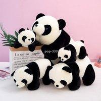 Zappget spielzeug plüschtier baby panda kawaii gefüllte puppe hochwertig dreidimensionale pp baumwolle kurze plüsch weihnachten geschenk nettes tier offen