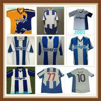 Porto Retro Soccer Jersey 1994 95 97 99 2001 2003 2004 Cup Final Home Uomini # 10 Deco Finals Vintage Camicia da calcio Kit Classic Uniform # 77 McCarthy # 11 Derlei