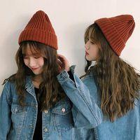 Beanie Skull Caps Winter Womens Beanie Hat Autumn Women Wool Knit Cuff Watch Cap For Girls Spring Skull Hats Female