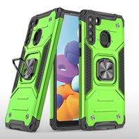 모토 G9 E7 Plus G Fast Google Pixel 5XL Pixel-5 4A 용 갑옷 킥 스탠드 링 케이스