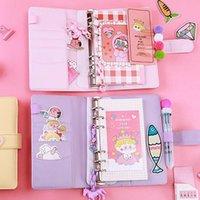 Mini planificador de diario de diario de cuero faux portátil con libreta de libros de combinación