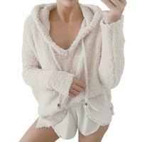 Loose Drawstring Sweatshirt Women Fleece Warm Hoodies Pullovers Cat Ear Plus Size Hoodie Top Blouse Sweat Femme Women's & Sweatshirts