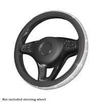 Steering Wheel Covers Easy Install Car Soft Universal Fit Cover Lightweight Accessories Odorless Faux Leather Bling Rhinestone Gift