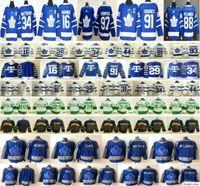 2021 Reverse Retro Toronto Maple Leafs Hockey Jerseys 16 Mitchell Marner 34 Matthews 91 Tavares 88 William Nylander 97 Joe Thornton Frederik