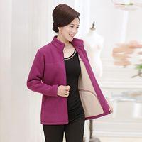 Women's Wool & Blends Woman Spring Plus Size Thick Overcoat Female Autumn Oversized Warm Outerwear Women Winter Velvet Coat Lady Jackets