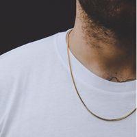 YUTONG YUTONG Surtido de estilo de acero inoxidable Hombres Collar de cadena para hombres Mujeres Trigo Cuba Caja de serpiente Caja de enlace Collares 2-6mm de ancho