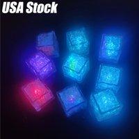 Fluorescent coloré Polychrome Flash Fête flash lumière LED glaçons rougeoyant clignotant une lampe de décoration clignotante pour mariage bar