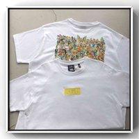 Zaman Tarzı KITH X SIMPSON CO Markalı Karikatür Palyaço Aile Fotoğraf Koleksiyonu Aile Baskılı T-shirt Kısa Kollu Yeni Moda