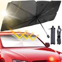 Umbrellas Car Windshield Sunshade Foldable Umbrella Cover UV Block Front Window Heat Insulation Protection For Trucks