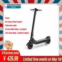 Scooter électrique 856P adulte, pliable et portable, comporte plusieurs brevets de freins, absorption des chocs anti-explosion sans pneus pneumatiques, moteur 500W