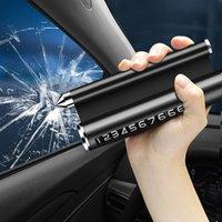 Voiture de stationnement temporaire multifonction Carte de stationnement de voiture avec porte-fenêtre Alliage Titulaire de téléphone Auto Aromathérapie Accessoires
