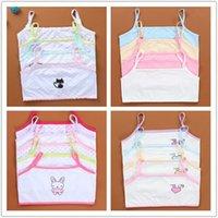10 adet / grup Çocuk İç Çamaşırı Pamuk Kızlar Tank Üst Şeker Renk Fanila Kız Singlet Bebek Kaşkorse 8-14Y