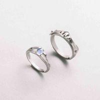 Thaya Natural Blue Light Moonstone кольца влюбленные романтическое кольцо 100% S925 серебряные доспехи для женщин Винтажные элегантные украшения
