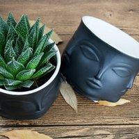 Personalità uomo faccia vaso fiore vaso decorazione della casa accessori moderna vaso di ceramica per fiori Pots Plantatori supporto T2i51809