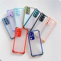 Coques de téléphone PC pour Huawei P30 P40 Mate 20 Pro Lite E 4G 5G Simple Mat Transparent Couverture de silicagel à quatre angles