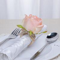 7 colori in legno tovagliolo fibbia a mano intrecciata a mano corda di lino corda artificiale fiore tovagliolo anello tavolo tavolo da tavolo favorire OWB10410