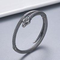Nuevo producto Pulsera retro Pulsera plateada de alta calidad Pulsera de serpiente para el suministro de joyería de pareja Accesorios de tendencias de moda