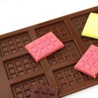 Fai da te cioccolato biscotti di cottura stampi rettangolo gel di silice stampi torta pasticceria bakeware cubetti di ghiaccio muffa cucina fornelli forniture HWF10175
