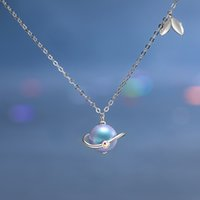 Necklaces Thaya Midsummer Night's Dream Design Necklace Colored Pearls S925 Silver Choker for Women Elegant Jewelry Ladies Gift
