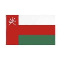 Bandiera natale dell'Oman Retail Direct Factory Commercio all'ingrosso 3X5FTS 90x150cm Banner in poliestere Interno Uso da esterno D'uso esterna Testa di tela in metallo Gommello