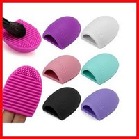 Arrival 8 Colors Brushegg Clean Brushes Makeup Wash Silica Glove Scrubber Board Cosmetic Tools1