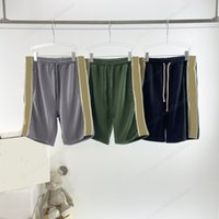 Diseñador shorts shorts pantalones deportes ropa deportiva jogger suelta casual negro oscuro verde hip hop para hombres parejas de alta calidad lado reflectivo diseño corto gran la UE perder el tamaño