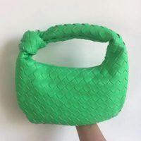 أكياس المساء أزياء اليدوية المنسوجة حقيبة الأخضر الصيف الكتف سيدة crossbody المتشرد بو مع معقود مقبض حقيبة يد عارضة