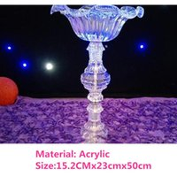 Party Decoration Crystal Wedding Centerpiece Flower Stand Candle Holder Cake Vase For Event