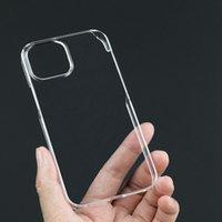 Sert Plastik PC Parlak Temizle Telefon Kılıfları Için iphone 13 Pro Max 13Pro 13mini Durumda Şeffaf Arka Kapak